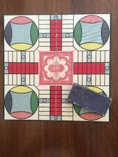 Antique Parcheesi Game Board and Pieces 1918 Selchow & Righter Co. New York
