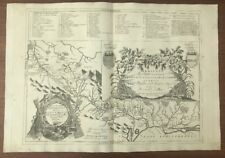 Carte du  Canal Du Midi par Coronelli 1695 Toulouse Marseillan Sète Beziers 1695