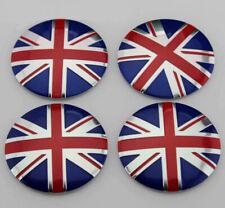 4X 56mm Car Refitting Wheel Center Hub Cap Emblems Badge Decal UK Flag For MINI