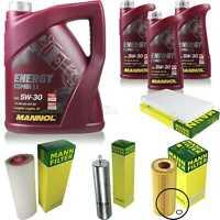 Inspektionspaket 8 L MANNOL Energy Combi LL 5W-30 + MANN Filterpaket 10935107