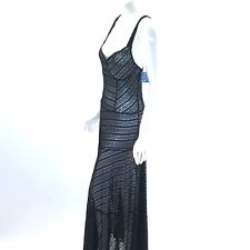 Free People Intimately Black Lace Maxi Dress Slip Size M Love Story Semi Sheer