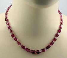 Rosa Turmalinkette Rubellit Kette mit Perle Halskette für Damen  45 cm