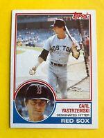 1983 topps Carl YASTRZEMSKI CARD #550 Vintage Baseball Boston Red Sox EX -NR-MT