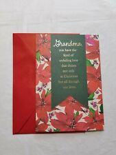 Christmas Greeting Card For Grandma 8 x 5 1/2 inch Hallmark Expressions
