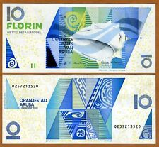 Aruba, 10 florin, 2003, P-16 (16a), UNC > seashell florin