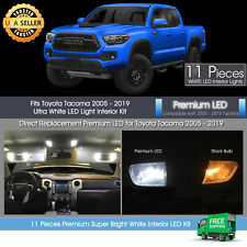 11x White Interior LED Light Package For 2005 - 2019 Toyota Tacoma Premium Kit