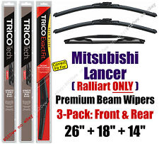 Wipers 3pk Premium Front Special Rear 2010+ Mercedes-Benz Lancer 19260/180/14B