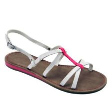 XAPPEAL Madison Flat Strappy Sandals  White Fuschi  Size 10 new