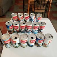 Vintage Schmidt Empty Beer Can Lot of 17, Nature, Sports, Animals