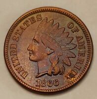 1866 Indian Head Cent Grading AU Nice Coin Priced Right Shipped FREE  i9