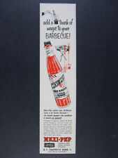 1968 Trappey's Mexi-Pep Hot Sauce bottle art vintage print Ad