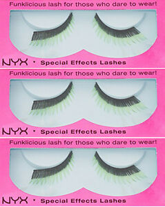 NYX FUNKLICIOUS LASH SPECIAL EFFECTS LASHES EL156 AMAZONIA 3 PACK
