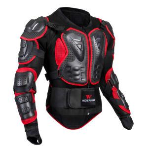 Motorrad Ganzkörper Jacke Rüstung Motocross Racing Protector l rot