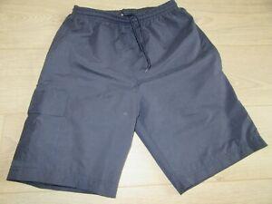 Men's Cargo Swim Shorts - Navy - Small - Zip Pockets - Lightweight - Mesh Liner