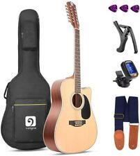 Vangoa 12 String Acoustic Guitar Cutaway, Spruce Top & Mahogany Sides, 41 Inch