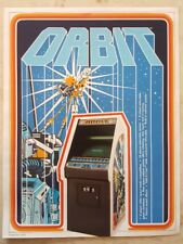 ORBIT By ATARI 1978 ORIGINAL NOS VIDEO ARCADE GAME PROMO SALES FLYER BROCHURE