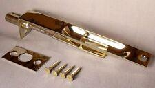 "Square Flush Bolt Door Hardware 6"" x 3/4"" in Polished Brass"