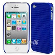 Carcasa iPHONE  4S  PERFORADA Dura y Ligera Color AZUL Alta Calidad a571