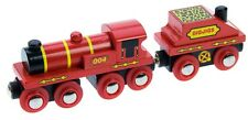 BIGJIGS ENGINE AND COAL TENDER WOOD TRAIN SET ACCESSORIES NEW BOXED