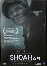 SHOAH (1985) 4-DVD Disc BOX SET!! (New-SEALED) Claude Lanzman
