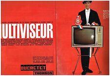 PUBLICITE ADVERTISING  1963   DUCRETET THOMSON  (2 pages) le multiviseur