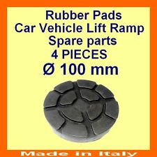 Set de 4 pads Ravaglioli 2 poste voiture ascenseur rampe de levage coussinets en caoutchouc -100 mm-Made in Italy -