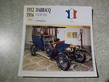 CARTE FICHE DARRACQ V LUXE 1914