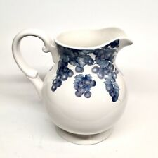 Nantucket Home White Pitcher With Blue Grapes