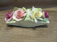 Staffordshire England Bone China Thorley Porcelain Flowers in a Basket