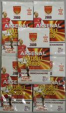Arsenal Football Cards 2000 FUTERA trading cards non ouvert paquets X 5