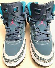 Jordan Spizike BG 2014 Size 7 Youth/Mens Space Blue/Wolf Grey/Fusion Pink