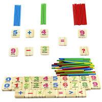 Bébé Numéros en bois Mathématiques Intellectuelles Comptage Rods ToBB