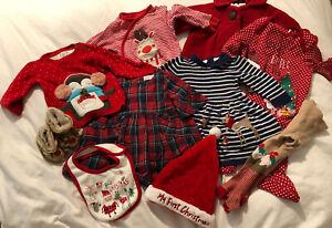 Baby Girl 3-6 Months christmas Clothes Bundle- Mothercare, Next, Waitrose
