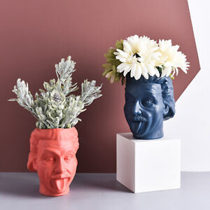 Creative Resin Einstein Sculpture Planter Pot Storage Pen holder Vase Home Decor