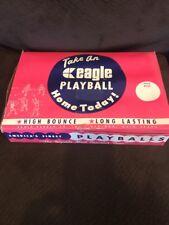 Vintage eagle Play Ball Hi bounce display box W/ 15 Yellow balls See Read