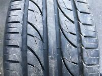 1 X PART WORN 225 45 17 TYRE 6MM TREAD 225/45 R17 94W REINFORCED