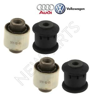 For Audi VW Rear Lower Outer & Front Forward Control Arm Bushings Kit Genuine