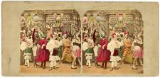 "Stereo, Angleterre, ""Masked ball"" Vintage stereo card -  Tirage albuminé aquar"