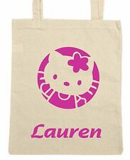 Personalised Hello Kitty Tote/Shopping/Shoulder Bag *Choice Of Colours*