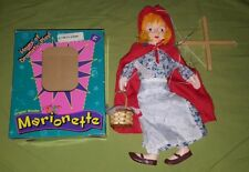 """Original Wooden Marionette Little Red Riding Hood 15"""" Puppet Doll Toy"""