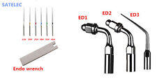 Dental Ultrasonic Endodontic Tips Set ED1 ED2 ED3 Ufile + wrench for SATELEC DTE