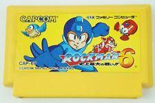 Rockman 6 Megaman NES CAPCOM Nintendo Famicom From Japan