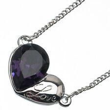 2.59 Ct Pear Cut Style Shape Purple Amethyst CZ 18K White Gold Plated Pendant