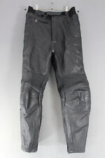 CLASSIC RICHA BLACK LEATHER BIKER TROUSERS: WAIST 30 INCHES/INSIDE LEG 27 INCHES