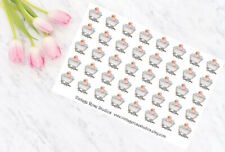 Bathtime / Showertime Functional Planner Stickers For All Planners, Erin Condren