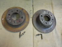 1968 - 1983 Fiat 124 Spider Pair of Left Right Front Disc Brake Rotors Used