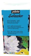Pebeo Setacolor opaco Discovery Set Colore Vernice Tessuto vasi da 12 x 20ml