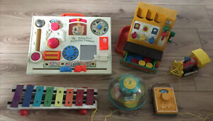 Job Lot of Vintage Fisher Price Children's Toddler Toys 1950s 1960s Collectibles