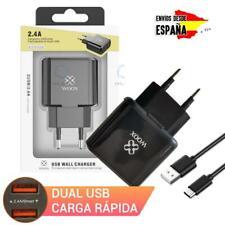 Cargador USB doble de Carga Rapida para Movil Tablet Qualcomm 2.4A Universal