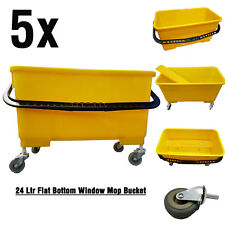 Flat Bottom Window Mop Bucket with Wheel & Sieve 24Ltr on SALE - 5 Qty